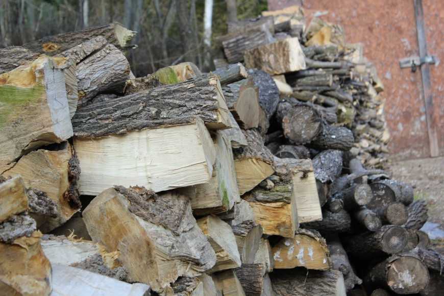 Nonno's wood pile at the cottage... and he is ever looking for more to add!