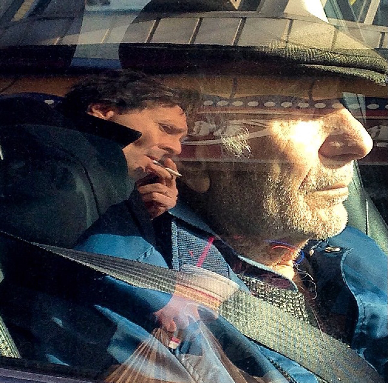Father and Son Reflecting